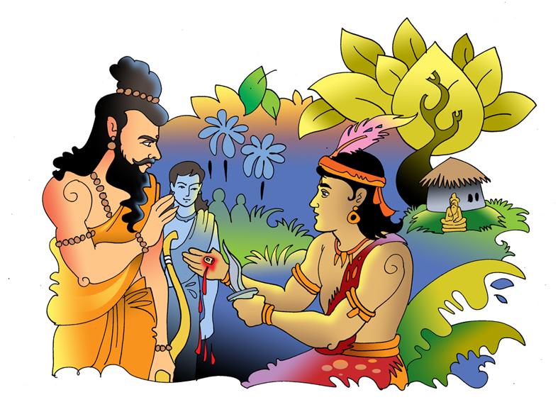 comic book 5   dronacharya the story of drona the guru of the